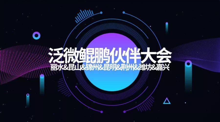 泛微鲲鹏伙伴大会丽水、昆山、锦州、昆明、荆州、潍坊、嘉兴七城